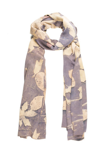 Silk and Cashmere Saf İpek Ekolojik Şal 200*70 Cm Sarı